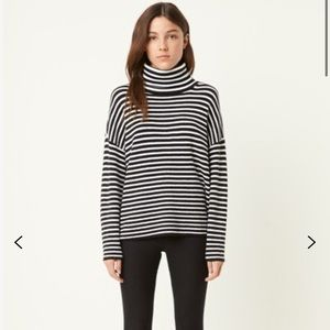French connection micro stripe roll neck sweater
